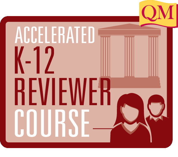 Accelerated k-12 reviewer course text inside rectangle