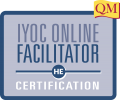 IYOC online facilitator certification text in blue box