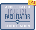 blue box with Accelerated IYOC F2F Facilitator Certification inside
